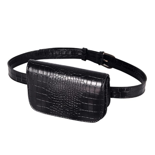 Crocodile Pattern Vintage Waist Bag
