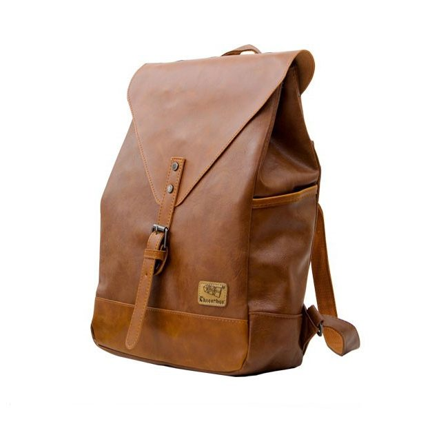 High Grade PU Leather Large Backpack 3 Colors