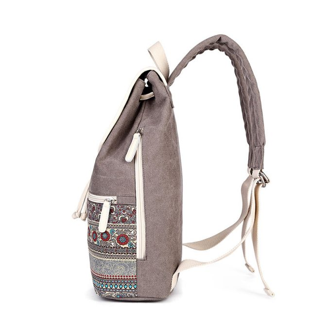 Top Quality Canvas Women Casual Backpack 4 Colors