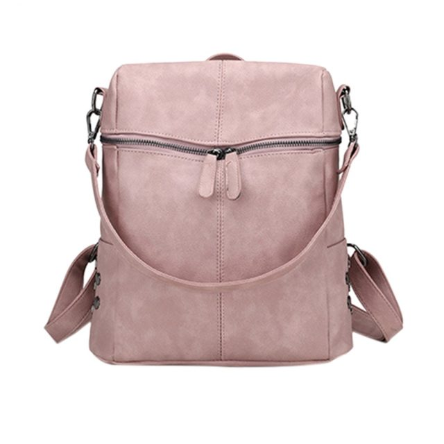 MoneRffi Casual Large Capacity Shoulder Bags Vintage Women Backpack Nubuck Leather Pu School Backpacks For Teenage Girl mochila