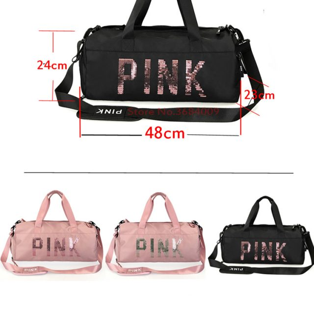 2018 Cheap Sequins Black Gym Bag Women Shoe Compartment Waterproof Sport Bags for Fitness Training Yoga Bolsa Sac De Sport