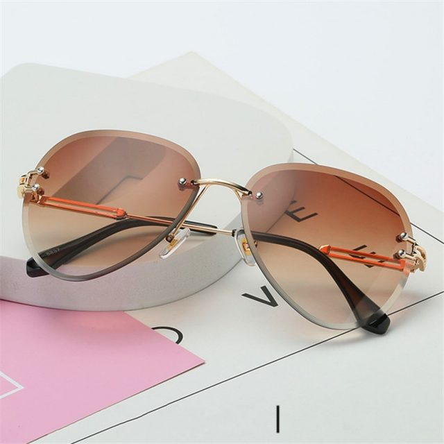 Rimless Women Sunglasses