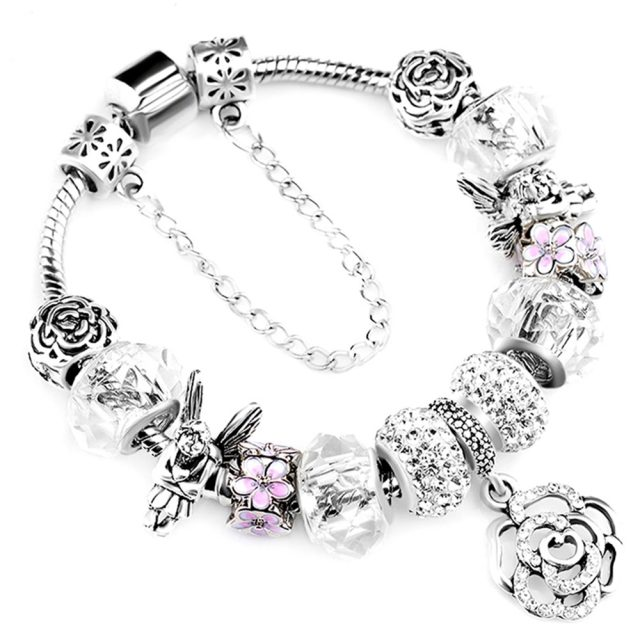28 Fashion Silver Charms Bracelets Types