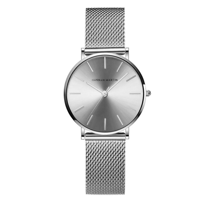 Stainless Steel Strap Women Wristwatch