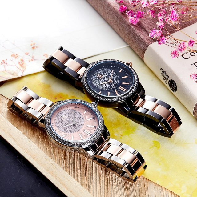 Rose Gold Color Women Wristwatch