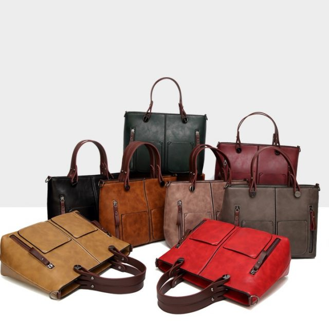 Vintage Female Casual Totes 8 Colors