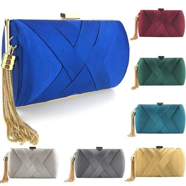 Women Fashion Tassel Clutches 9 Colors