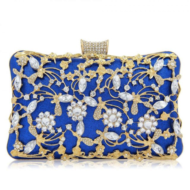 Luxury Evening Crystal Clutches with Rhinestone 9 Colors